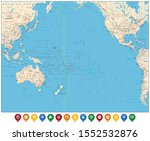 pacific ocean map and colored... | Shutterstock .eps vector #1552532876