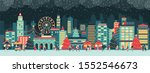 colorful city with lights at... | Shutterstock .eps vector #1552546673