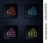 color neon line cinema ticket... | Shutterstock .eps vector #1552559570