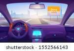 car interior inside with gps on ... | Shutterstock .eps vector #1552566143