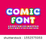 vector colorful comic font.... | Shutterstock .eps vector #1552575353