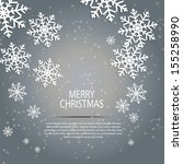 abstract beauty christmas and... | Shutterstock .eps vector #155258990