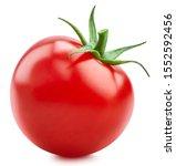 One Tomato Isolated On White...