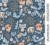 nursery woodland animals vector ...   Shutterstock .eps vector #1552621550