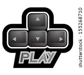 icon play | Shutterstock .eps vector #155268710