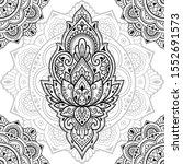 seamless decorative ornament in ...   Shutterstock .eps vector #1552691573