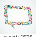 isolated colorful social media... | Shutterstock . vector #155270339
