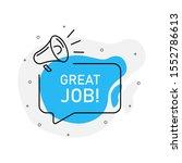 great job of marketing design... | Shutterstock .eps vector #1552786613