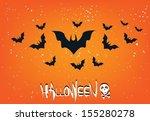 halloween  | Shutterstock .eps vector #155280278