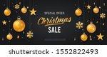 christmas sale banner or web... | Shutterstock .eps vector #1552822493
