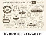 vintage typographic design... | Shutterstock .eps vector #1552826669