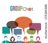 group of people with speech... | Shutterstock .eps vector #155284388
