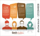 group of people with speech... | Shutterstock .eps vector #155284808