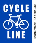 cycle line | Shutterstock .eps vector #155285330