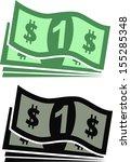 dollars | Shutterstock .eps vector #155285348