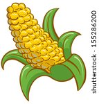 corn on the cob | Shutterstock .eps vector #155286200