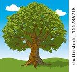 green leafy tree in open field | Shutterstock .eps vector #155286218