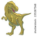 t rex giant lizard dinosaur | Shutterstock .eps vector #155287568
