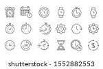 time and clock icon set  timer  ... | Shutterstock .eps vector #1552882553