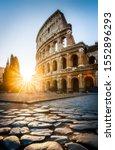 Sunrise At The Rome Colosseum ...