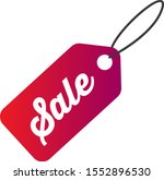 sale tag icon in trendy flat...