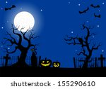 illustration of scary halloween ... | Shutterstock . vector #155290610