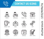 contact us outline icon set...
