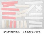 colorful  white adhesive ... | Shutterstock .eps vector #1552912496