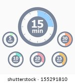 set of timers | Shutterstock .eps vector #155291810