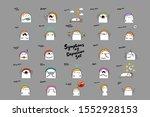 bif depression symptoms set... | Shutterstock .eps vector #1552928153