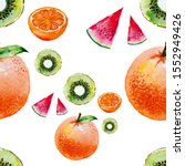 seamless pattern with... | Shutterstock . vector #1552949426