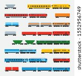 diesel locomotives. a set of... | Shutterstock .eps vector #1552956749