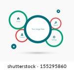 site template. flat design | Shutterstock .eps vector #155295860