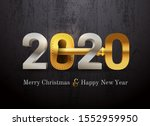 2020 new year card for real... | Shutterstock .eps vector #1552959950