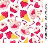 Valentine Day Seamless Pattern  ...