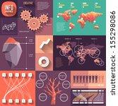 infographics of flat design... | Shutterstock .eps vector #155298086