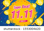 11.11 super sale shopping... | Shutterstock .eps vector #1553004620