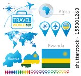 republic of rwanda. flag. world ... | Shutterstock .eps vector #155301263