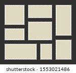 set blank postage stamp.toothed ... | Shutterstock .eps vector #1553021486