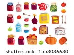 stickers with different food ... | Shutterstock .eps vector #1553036630