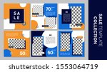 sale template collection for... | Shutterstock .eps vector #1553064719
