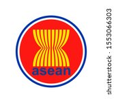 Emblem of the Association of Southeast Asian Nations(ASEAN). Abstract concept, icon. Raster illustration on white background.