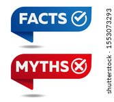 myths facts sign vector banner... | Shutterstock .eps vector #1553073293