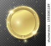winner's medal. medal in lights ... | Shutterstock .eps vector #1553081189