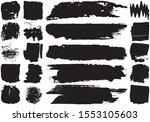 set of black brush strokes with ...   Shutterstock .eps vector #1553105603