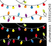 christmas light set. holiday... | Shutterstock .eps vector #1553114243