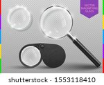 realistic modern magnifying... | Shutterstock .eps vector #1553118410