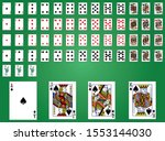 classic design of playing cards ... | Shutterstock .eps vector #1553144030