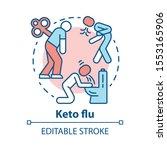 keto flu concept icon.... | Shutterstock .eps vector #1553165906