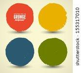 beautiful color grunge design... | Shutterstock .eps vector #155317010